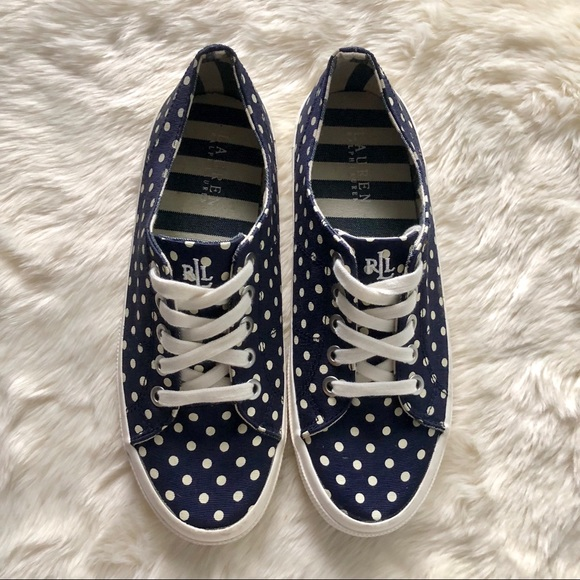 Lauren Ralph Lauren scarpe   Navy Polkadot Jolie Scarpe da Ginnastica   Poshmark